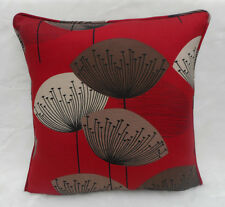 Sanderson Fabric Cushion Cover 'Dandelion Clocks' Red - Cotton