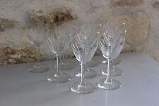 Superbe série de 9 verres en cristal ciselé - Verre à porto - Verres à pied