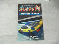 original  SEGA SUPER GT  post card ARCADE GAME ART