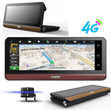 "8"" Folding 4G WiFi Car Dash Kit DVR Dual Camera GPS Navigation Android Free Map"