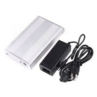 Silver 3.5 Inches USB 2.0 IDE Hard-disk HDD Enclosure Cartridge Case D4B7