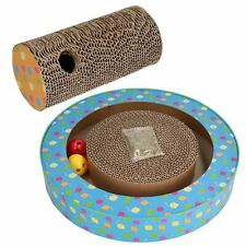 Cat Orbit Cardboard Scratch & Claw N Roll Pad Cat Scratcher Interactive Toy
