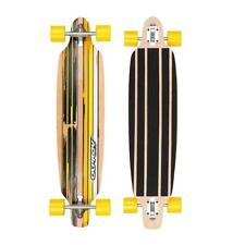 Osprey Flint Complete Twin Tip Longboard Skateboard Drop Through Trucks Yellow