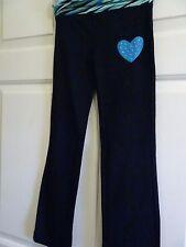 BALLY GIRLS SIZE 4-5 (FITS SIZE 6) BLACK KNIT STRETCH/DANCE/DRESS PANTS-FLARE