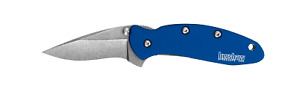 Kershaw Chive Liner Lock Knife Navy Blue Anodized Aluminum 420HC Carbon 1600NBSW
