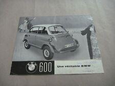Microcar BMW 600 ISETTA Catalogue Brochure Prospekt Dépliant French