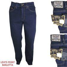 jeans wampum 504 stretch confort uomo vita alta dritto blu scuro basic taglia 48