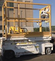 2006 Hybrid HB1030 10' Electric Scissor Lift - 16' Working Height - Fits In Door