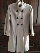 Wool/Cashmere Beige Women's Coat Luxury Mona Serbia Size S/European 38