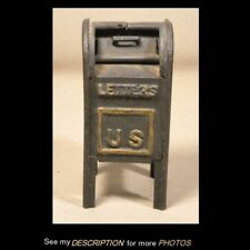 Antique Cast Iron Still Bank Mail Box Moveable Door