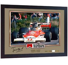 James Hunt signed autographed prinr photo Formula 1 FRAMED