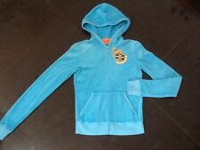 """NWT Juicy Couture New Gen. Ladies Size Small Blue Cotton Hoody With """"J"""" Pull"""