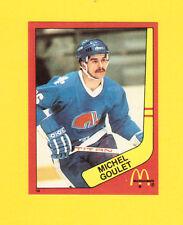Michel Goulet Quebec Nordiques Scarce 1983 McDonalds Quebec Hockey Sticker
