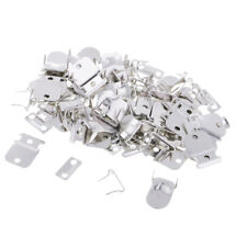 Wire FASTENER HOOK AND EYE Surplus Sew Trims Antique Silver Large 20 sets