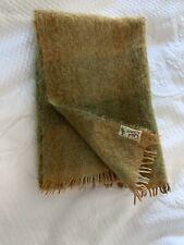 Tullock Of Shetland Isles Mohair Wool Lap Blanket Wrap /shawl