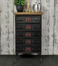 Industrial Side Cabinet Small Vintage Sideboard Storage Drawer Unit Rustic Metal