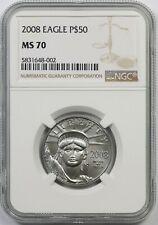 2008 Platinum Eagle $50 Half-Ounce MS 70 NGC 1/2 oz Platinum .9995