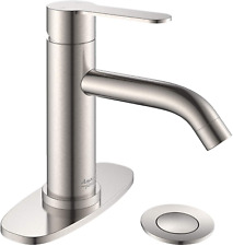 Amazing Force Bathroom Faucet With Pop Up Drain Assembly And Deck Plate