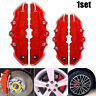 4PCS 3D Red Car Disc Brake Caliper Cover Front & Rear Accessories Kits Universal