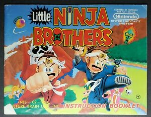 """NES MANUAL ONLY  :     TITLE   """" LITTLE NINJA BROTHERS  """""""