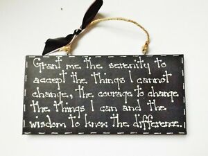 Serenity Acceptance Prayer Quote Wall Plaque Sign Home Decor Moving On Gift