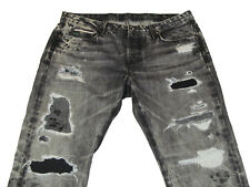 NEW Tortoise Womens 29Wx27L Gray Distressed Savannah Patchwork Jeans $425 MSRP