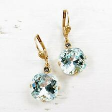 La Vie Parisienne Catherine Popesco 14K GP Large Round Crystal Earrings in Ice