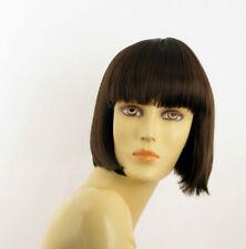 Parrucca donna corta cioccolato mechato rame : ELISA 6H30