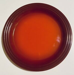 "Le Creuset Stoneware Cerise Cherry Red 10.5"" Dinner Plate."