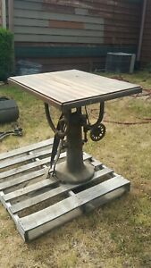 INDUSTRIAL STEAMPUNK SAW TABLE CAST IRON BASE