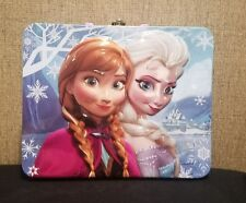 Disney Movie Frozen Metal Tin 3D Lunch Box Purple 2013 Disney Entertainment