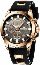 Mens Watches Men Chronograph Waterproof Sports Black Designer Large Face Luminou
