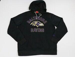 Nike Hoodie Adult Large Black Baltimore Ravens Football NFL Pocket Men