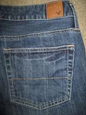 AMERICAN EAGLE Boy Fit 100% Cotton Dark Med Blue Denim Jeans Women Size 6 x 25.5