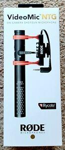 Rode VideoMic NTG On-Camera Shotgun Microphone - Black *NIB*