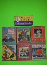 1934 CHILDRENS CLASSICS WEE BIG LITTLE BOOKS W/ ONE OF A KIND PURPLE BAND ON BOX