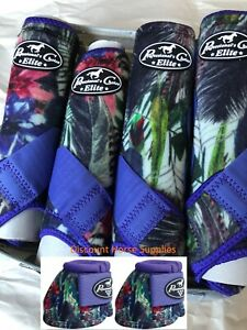 Professional's Choice VenTech ELITE Value Pack w/ Bell Boots Purple Feather M