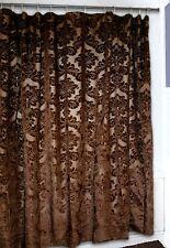 Gold Rush Shower Curtain - Western - Brown Damask - Free Shipping