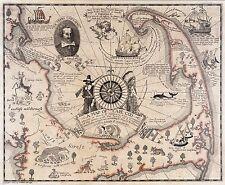 1926 PICTORIAL map Cape Cod Massachusetts landing of the pilgrims POSTER 8216