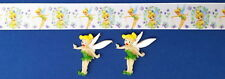 TINKER BELL WHITE Hair Bow Supplies Kit - 2 yd Ribbon and 2 Flatback Resins