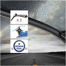 2x Acquamax Front Windscreen Window Wiper Blades for Nissan Nv 200 Evalia #55&41