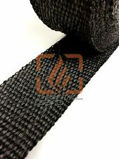 "BLACK EXHAUST HEADER WRAP PIPE INSULATION 2"" X 100 FEET +12 STAINLESS LOCK TIES"