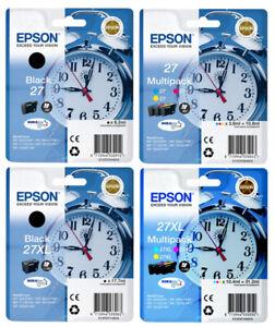 ORIGINAL DRUCKER TINTE PATRONEN Epson 27 Wecker-Serie WF3620DWF WF3640DTWF Sets