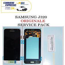 DISPLAY LCD per SAMSUNG GALAXY J3 2016 SM-J320FN BIANCO TOUCH SCREEN ORIGINALE