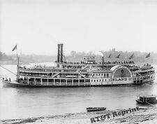 Historical Photograph of Steamship Island Queen Coney Island 1906  8x10