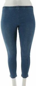 Women With Control Petite Stretch Denim Skinny Jeans Indigo PXS # A301306