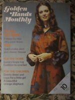 Vintage Golden Hands Monthly Sewing/Crafting Magazine April 1973