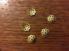 Gold plated bead caps fits 6-8mm beads   x 100 pack dg