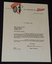 "1950 - MICHEL NORMANDIN ""LE REPORTER"" DOW BREWERY - AUTOGRAPH LETTER - ORIGINAL"