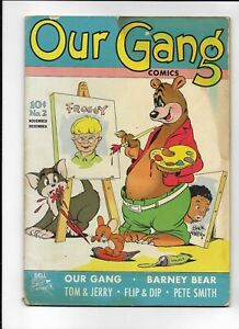 OUR GANG COMICS #2 ==> GD/VG 2ND TOM & JERRY, 2ND BUCKWHEAT DELL 1942